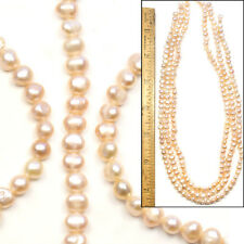 "LG AAA 3 16"" Strands 5mm Freshwater Lustrous Semi Round PINK Potato Pearl Beads"