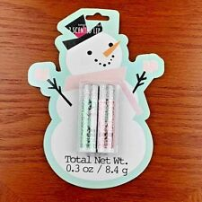 New Kohls Simple Pleasures 2 Scented Lip Balm Set ~ Snow Flurries & Strawberry