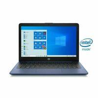 """HP Stream 11.6"""" Intel N4020 2.8 GHz 64GB SSD 4GB RAM Blue Windows 10 S - Webcam"""