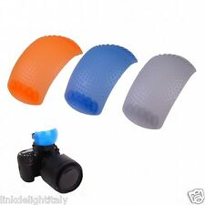 3 Colors Soft Cover Flash Light Diffuser Cover kit for Canon Nikon EOS