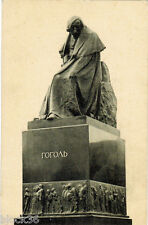 Vintage Russian postcard  MONUMENT TO N.V. GOGOL IN MOSCOW