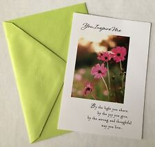 "Hallmark ""Inspired By You"" New Greeting Card & Envelope"