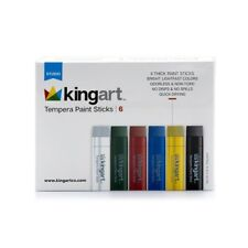 New Kingart Tempera Thick Paint 6 Sticks Washable Odorless Non Toxic