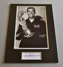 Carlos Alberto Signed 12x16 Photo Display 1970 Brazil Autograph Memorabilia +COA