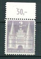 Bizone Mi-Nr. 98 II lange Treppe - Oberrand + postfrisch ** - Mi. 60,-