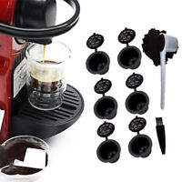 6pc Reusable Refillable Coffee Capsule Pods For Nespresso With Spoon+Brush USA