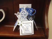 Beautiful handmade China Wedding Anniversary 20years pop up card
