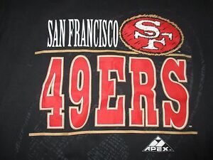 Vintage Apex-One Label - SAN FRANCISCO 49ers (LG) T-Shirt