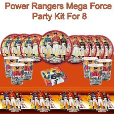 Power Rangers Mega Force Childrens Party Tableware Decorations Kit