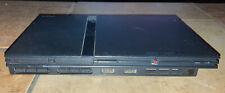 Sony Playstation 2 Slim PS2 Black Console only Tested Works SCPH-70001 No Cords