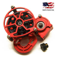 Aluminum Transmission Case Center Gearbox red for Axial SCX10 1/10 RC Crawler US