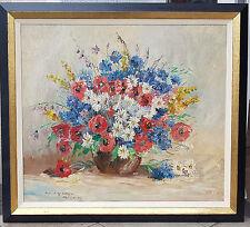 Ölgemälde Prof. Randolf 1911-1987 Wehn Stillleben 90 x 90 cm. Echtgoldrahmen