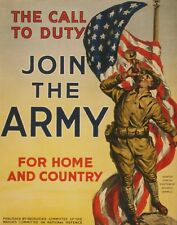 """TIN SIGN """"Join the Army"""" Patriotic Garage Wall Decor"""