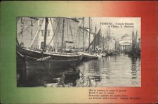 Trieste Italy Canale Grance - Colorful Border & Poem c1910 Postcard