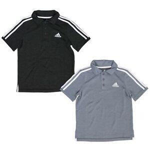 adidas Short Sleeve Active Polo Shirt for Boys - 3 Button Placket