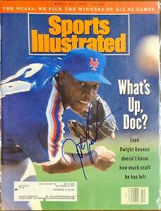 Dwight Doc Gooden Signed Sports Illustrated 3/22/93 Issue MLB NY Mets Cy Young
