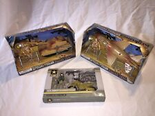 3 US Army Motorcycle Runner Special Forces Combat Team Tank Jet Plane Figure Set