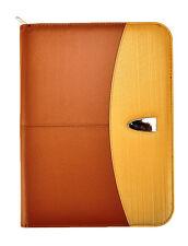 A4 deluxe cartera profesional Carpeta Con Calculadora Y Almohadilla-Marrón Dorado CL-821