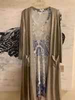 LuLaRoe SET GORGEOUS PAISLEY UNICORN NICKI DRESS M ELEGANT SARAH Cardigan S