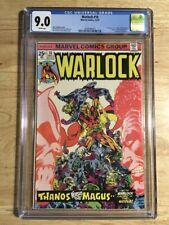 Warlock #10 CGC 9.0 VF/NM Origin Thanos/Gamora - 1ST In-Betweener - Jim Starlin