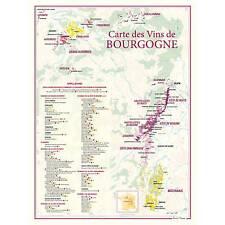Carte des Vins de Bourgogne format 30  x 40 cm
