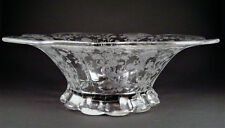 """""""First Love"""" Elegant Glass 12"""" Round Footed Flared Bowl in by Duncan & Miller"""