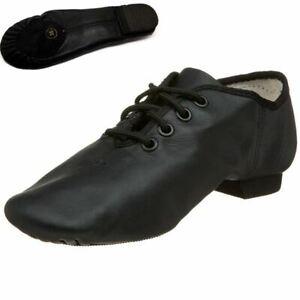 Jazz Modern Dance Black  Shoes Split Sole