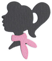 Girl Silhouette Quickutz Thin Metal Die RS-0709 NEW!