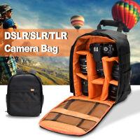 Waterproof Backpack DSLR Camera Shoulder Bag Case For Canon / Nikon /Sony Orange