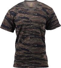 Camo T-Shirt Military Short Sleeve Tee, Army Camouflage Tactical Uniform Tshirt