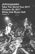 "JOHNNYSWIM ""TAKE THE WORLD TOUR 2017"" HOUSTON CONCERT POSTER-Folk,Soul,Blues,Pop"