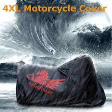 4XL Motorcycle Cover Waterproof Heavy Duty For Winter Outside Storage Snow Rain