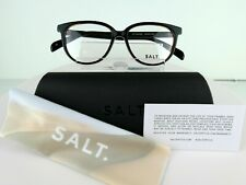 SALT.Optics Eleanor(BKOK/BK) Black Oak/Black 50 x 16 HANDMADE Eyeglass Frames