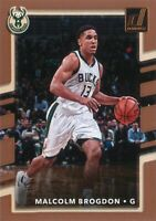 Malcolm Brogdon 2017-18 Donruss Basketball 2nd Year Base Card#83 Milwaukee Bucks