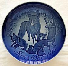 B G Fox & Cubs Bing & Grondahl Mothers Day Plate 9379 Denmark 1979 b
