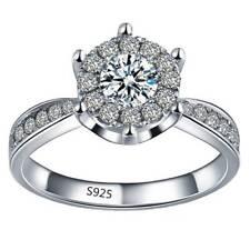 925 Sterling Silber Modeschmuck Schöne Zirkon Herz Frauen Ring 6 7 8 wsh, ohd