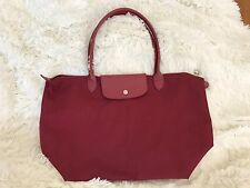 Longchamp Le Pliage Neo Large Tote Bag Opera Red Wine Nylon
