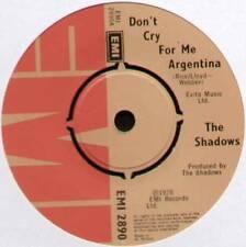 """Shadows ~ DON 'T CRY FOR ME ARGENTINA/Montezuma's Revenge ~ 1978 UK 7"""" SINGLE"""