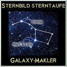 Sternbild Sterntaufe - inkl. Original Swarovski Stern - Stern taufen Weihnachten