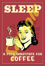 Coffee #1 Self Adhesive Sticker of Antique Tin Sign Artwork Retro Vintage - New
