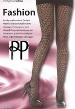 Strumpfhose Pretty Polly House of Holland Schwarz Muster Fishnet Fashion Tights