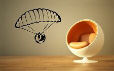 Wall Sticker Vinyl Decal Skydiver Parachute Extreme Sports ig1270