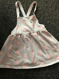Lovely Baby Girls Bunny Rabbit Dress 9-12 Months From Matalan
