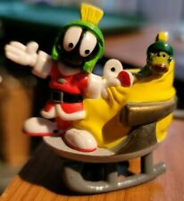 """2000 WB Looney Tunes """"Marvin the Martian & K-9 on Sleigh"""" Christmas Ornament"""