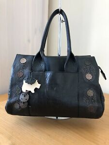 RADLEY BLACK LEATHER SHOULDER HANDBAG EXCELLENT USED CONDITION