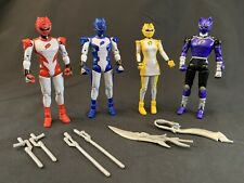 Power Rangers Jungle Fury Lot - X4 Figures from 2008 w/ Accessories (Bandai)