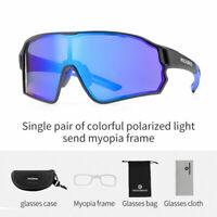 ROCKBROS Full Frame Cylindrical Polarized Glasses Sports Cycling BIke Sunglasses