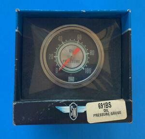 67 Shelby Stewart Warner Oil Pressure Gauge 2 3/8th 0-100psi  270 sweep #4000
