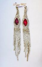 Extra Long Red Earring Jewellery For Ladies