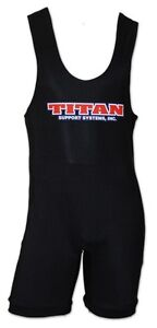 Titan Classic Black Powerlifting Singlet - IPF Legal - Raw Powerlifting